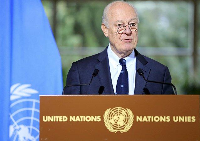 Staffan de Mistura, enviado especial de la ONU para Siria