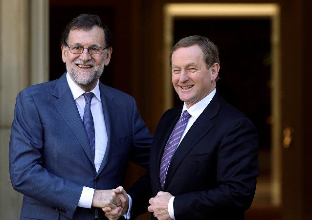 Presidente del Gobierno español, Mariano Rajoy, y primer ministro de Irlanda, Enda Kenny