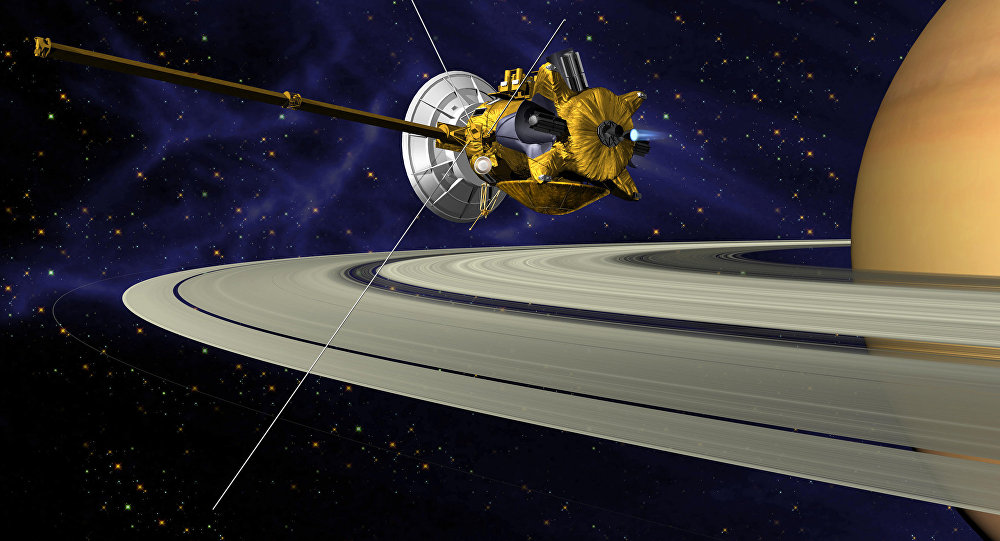 Resultado de imagen de Cassini entre los anillos de Saturno