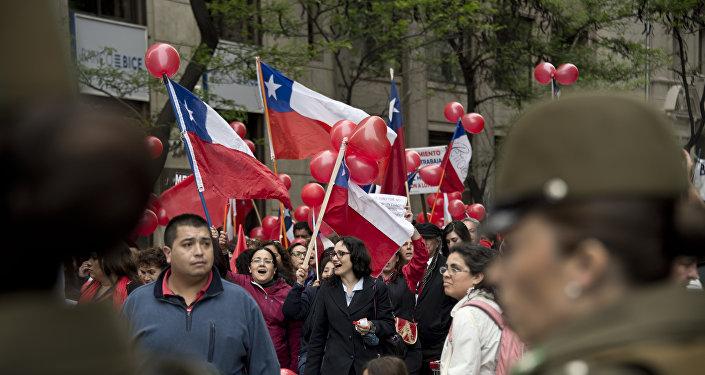 Una huelga en Chile