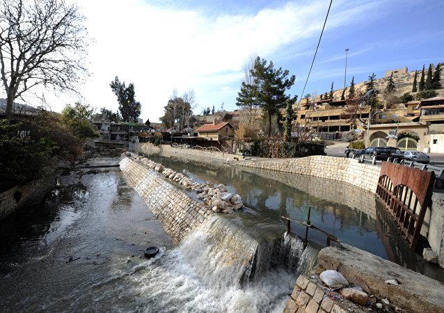 El río Barada cerca de Damasco