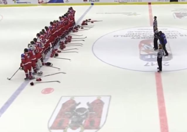 El partido de hockey celebrado recientemente entre las selecciones femeninas de Rusia y la República Checa, en el marco del Mundial de 2017