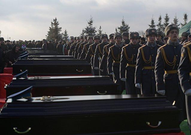 Rusia se despide de las víctimas del siniestro del Tu-154 en Sochi