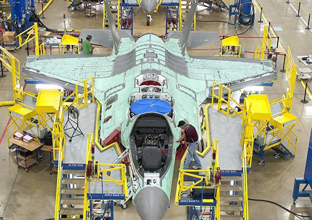 Línea de ensamblaje del F-35, foto archivo