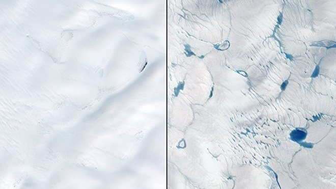 Deshielo temprano en Groenlandia