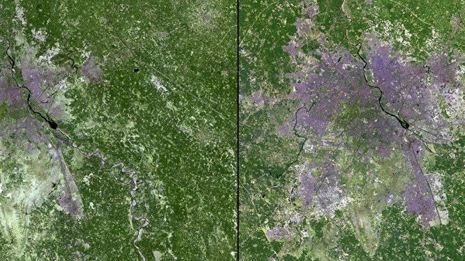 Expansión urbana de Nueva Delhi