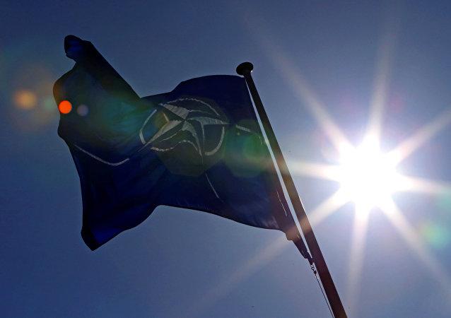 Bandera de la OTAN (archivo)