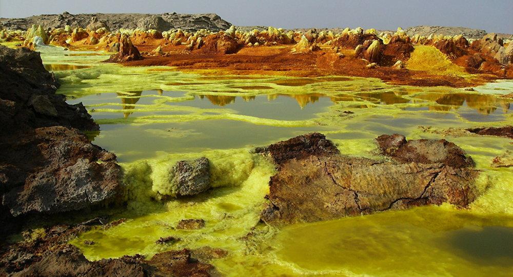 Desierto de Danakil, Etiopía. Aproximadamente así era la Tierra hace 2.500-3.000 millones de años