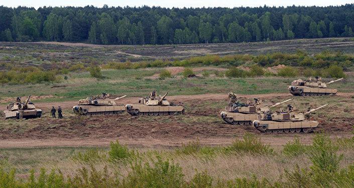 Los tanques estadounidenses Abrams en Polonia