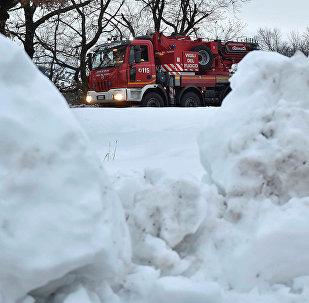 Alud de nieve en Italia