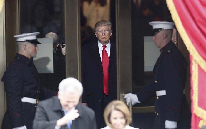 Donald Trump, poco antes de jurar el cargo