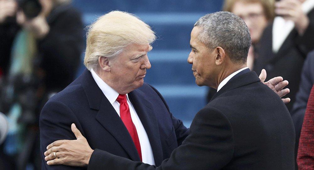 Barack Obama, presidente saliente de EEUU, con Donald Trump, presidente electo