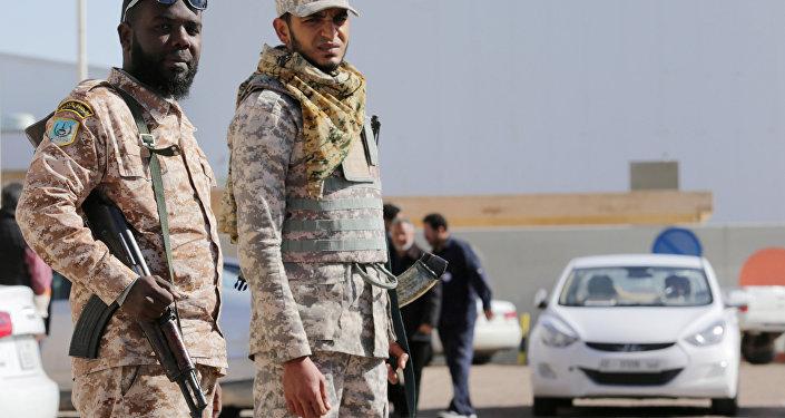 Los policías de Libia