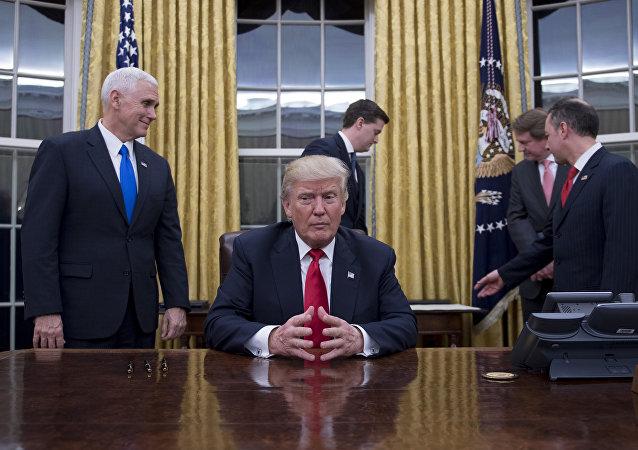 Donald Trump, presidente de EEUU, en Casa Blanca