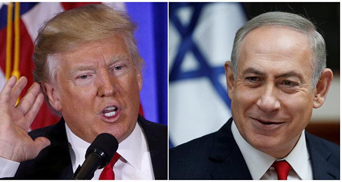 El presidente de EEUU, Donald Trump, y el primer ministro israelí, Benjamín Netanyahu