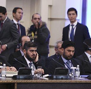 La oposición siria durante las consultas en Astaná