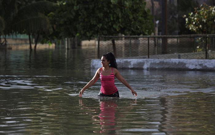 Fuerza mayor contra la capital cubana: inundación en La Habana