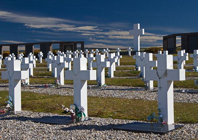 Cementerio en Argentina