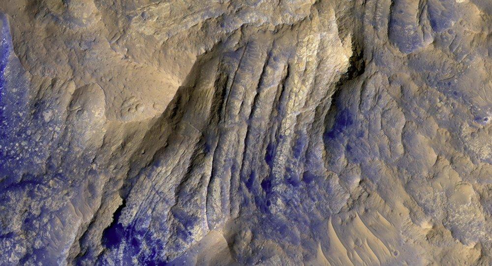 Formación de cráteres en Marte