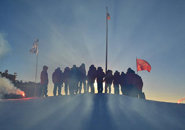 Trabajadores polares rusos