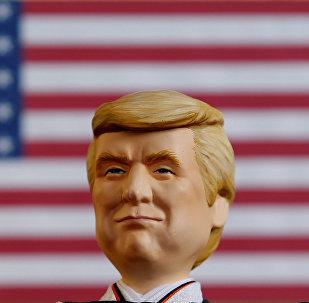 Un muñeco que representa a Donald Trump, presidente de EEUU