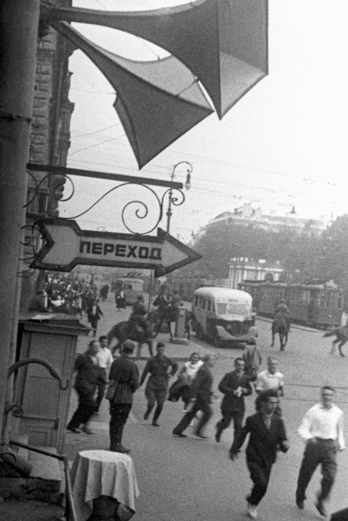 En las calles de Leningrado se instalaron 1.500 altavoces para avisar a los ciudadanos de los ataques enemigos