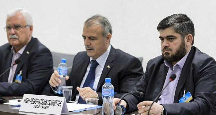 Los representantes de la oposición siria