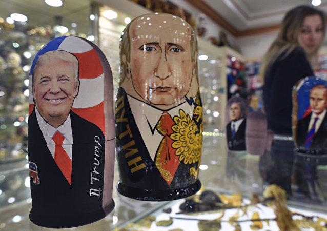Donald Trump, presidente de EEUU, y Vladímir Putin, presidente de Rusia