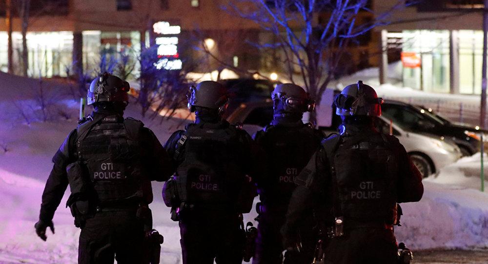 Policía en el lugar del tiroteo en Canadá