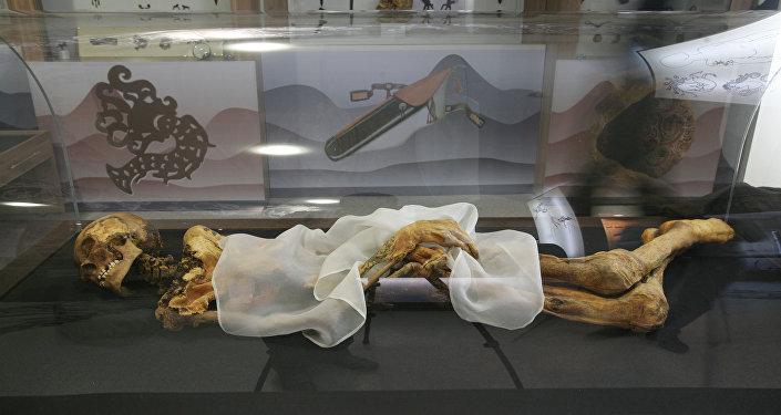 Momia de la Princesa de Altái (archivo)