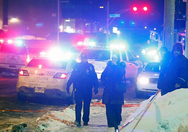 Lugar de tiroteo en Quebec, Canadá