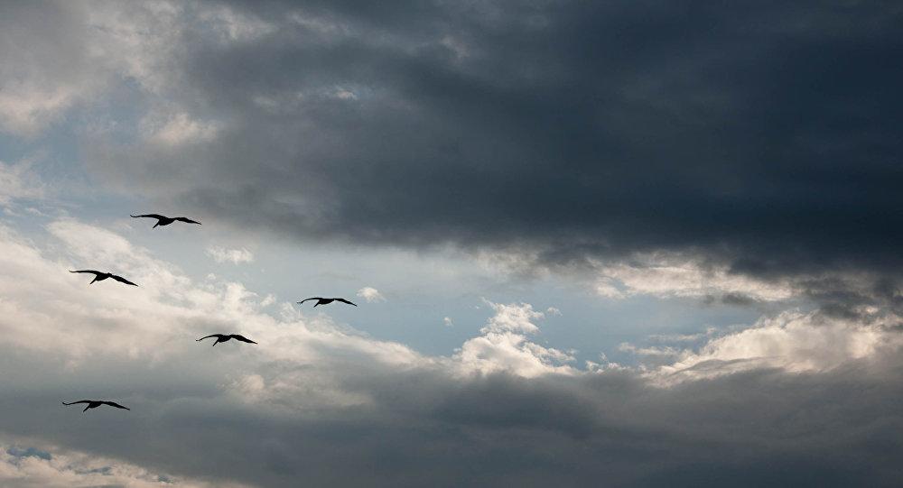 Nubes sobre México (archivo)