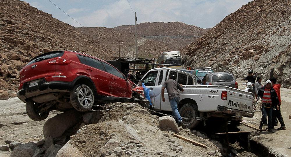Consecuencias de un deslave en Perú