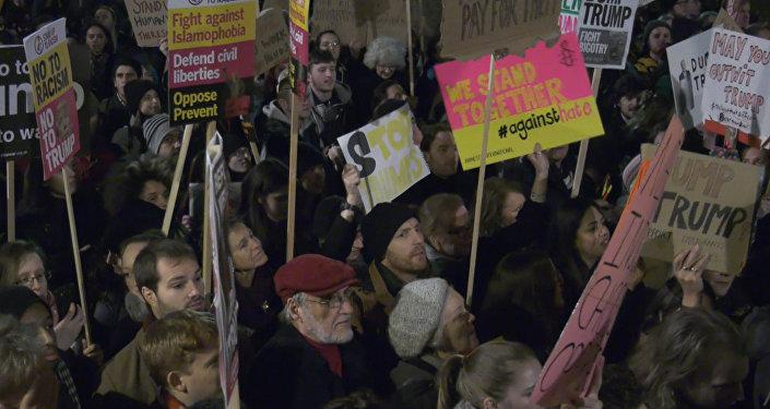Londres contra Trump: los ciudadanos toman las calles