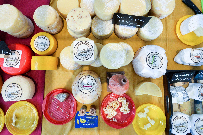 Un festival de queso en Moscú