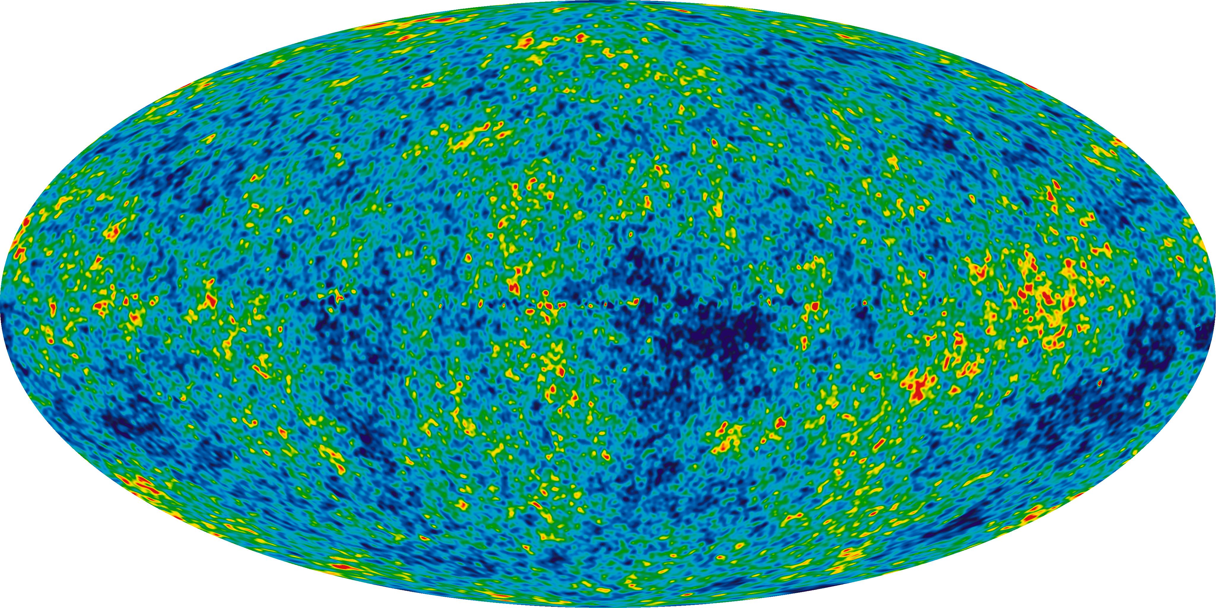 Radiación de microondas del fondo de nuestro universo que contiene información sobre cómo y por qué surgieron el espacio y el tiempo.