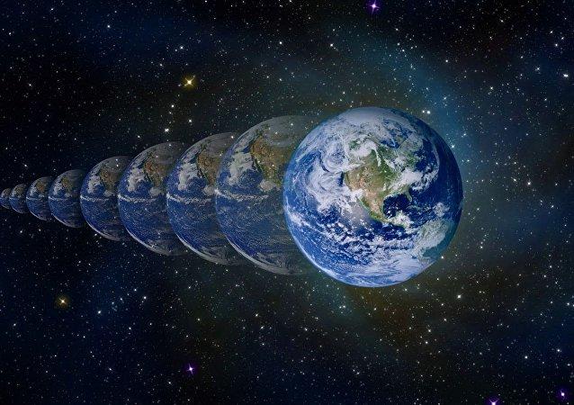 Planeta Tierra en el tiempo