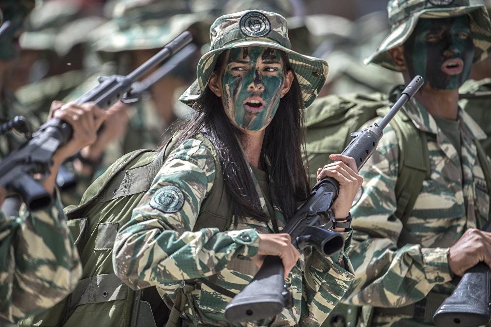 Военный парад в Венесуэле 1 февраля 2017 года