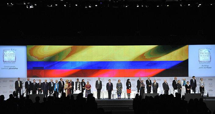 La XVI Cumbre Mundial de Premios Nobel de Paz en Bogotá