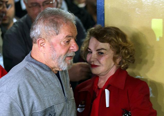 Luiz Inácio Lula da Silva y Marisa Letícia