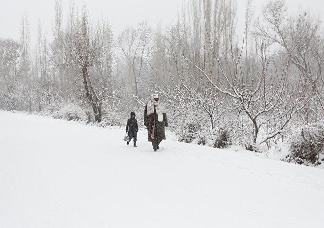 La nevada en Kabul (archivo)