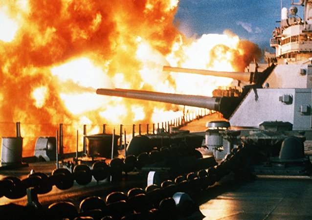 Un buque en combate