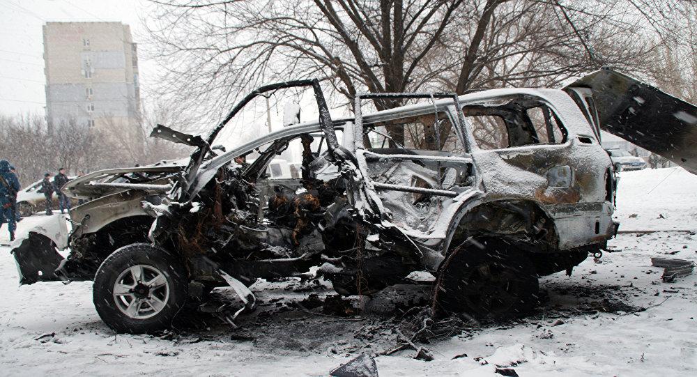 El coche de Oleg Anaschenko