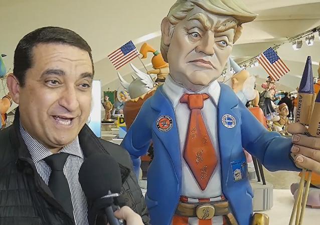 Donald Trump protagoniza la exposición del 'Ninot' en España