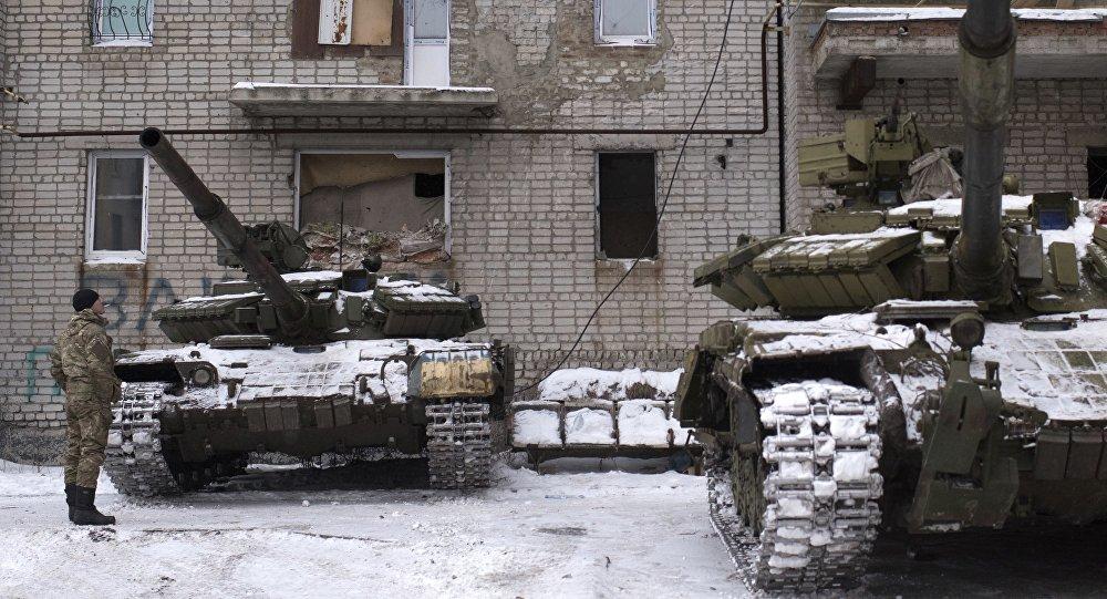 Las fuerzas ucranianas en Avdéevka