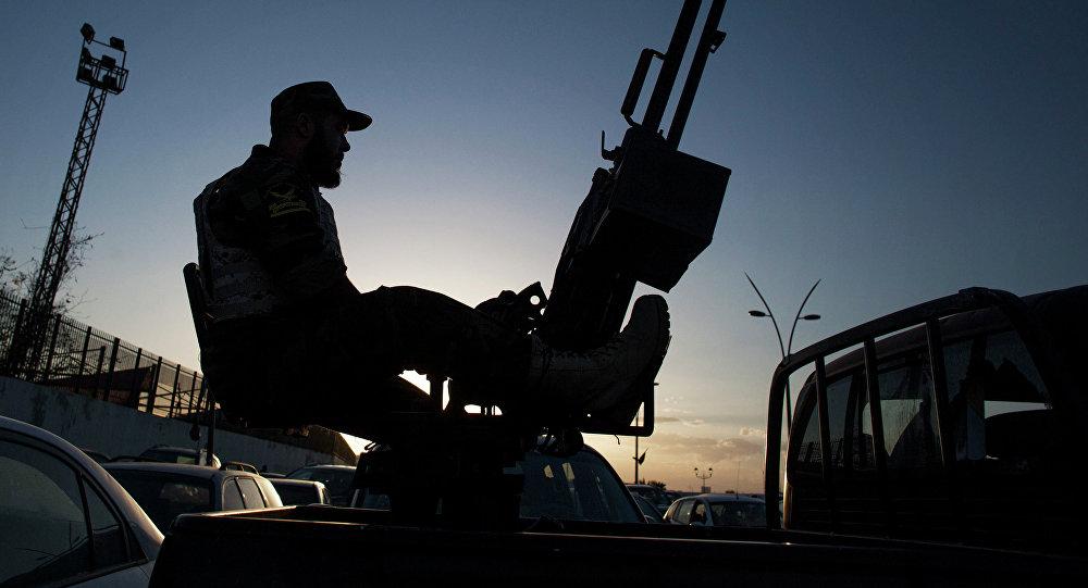 Un militar libio