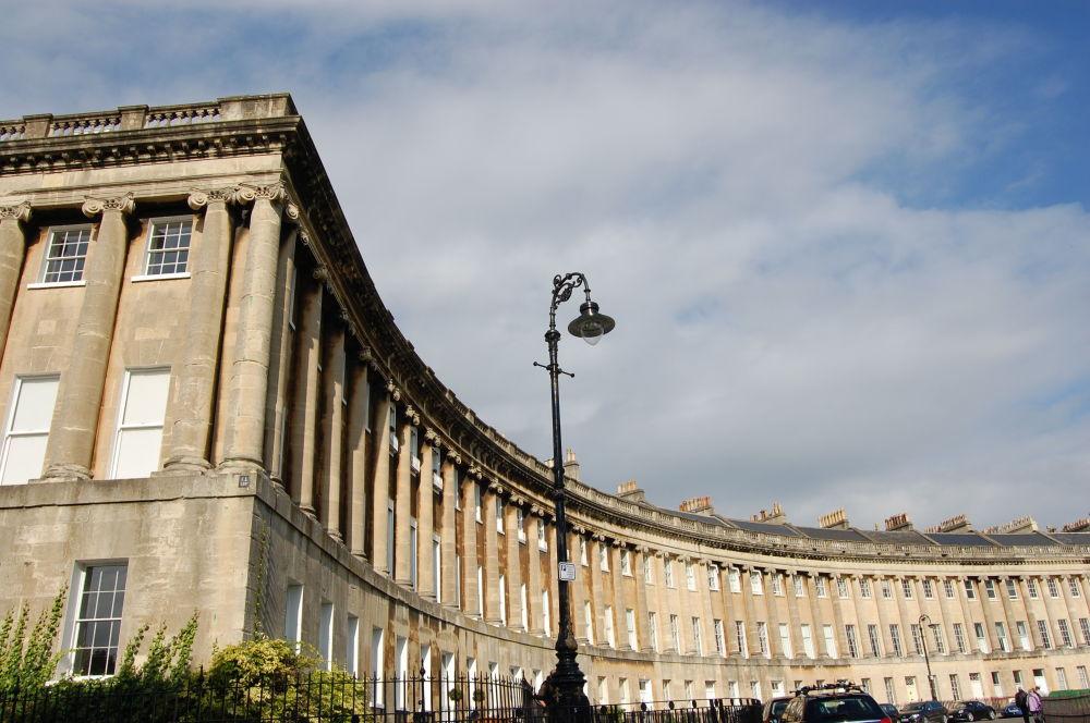 La ciudad de Bath en Reino Unido, conocida por sus Baños Romanos