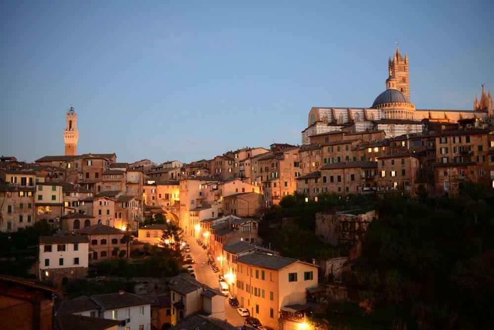 Siena, una ciudad en la región italiana de Toscana