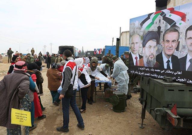 Un centro de refugiados de Alepo (archivo)