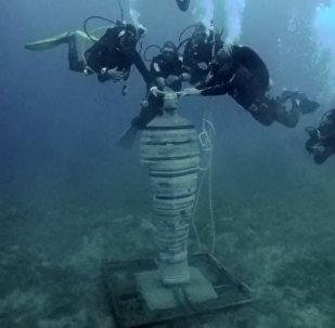 Esculturas submarinas cobran vida